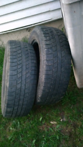 Pair of Used 14 Inch Tires