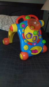 Baby activity walker and vibrating bouncy chair