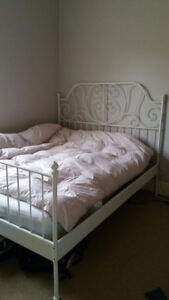 Ikea queen bed and mattress