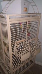 Large Bird Cage comes with many extras.