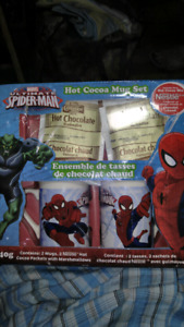 Spider-Man Hot Cocoa Mug Set.