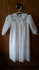 British Lace Christening Gown