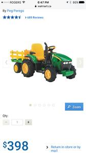 John Deere Tractor w\ trailer for kids