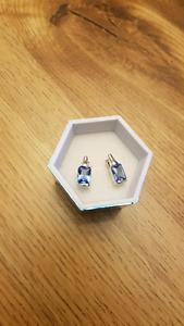 Blue Topaz Earrings, brand new. Make me an offer!