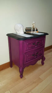 Beautiful refinished French Provincial night table. Edmonton Edmonton Area image 1