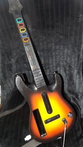 "Nintendo Wii Guitar Hero ""World Tour"" game with Guitar."