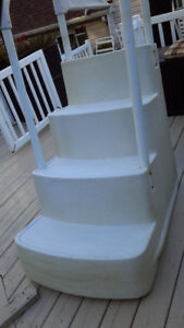 Escalier de piscine hors terre