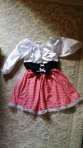 dress up costume Swiss girl size 3-5yrs