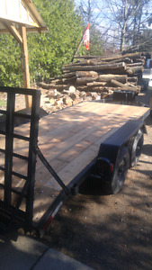 Flat bed trailer 14' deck