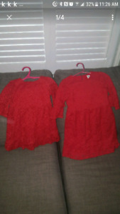 Girls gap matching party dresses - size 5 and 3