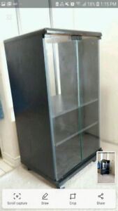 Glass Display Cabinet Shelving Unit on WHEELS