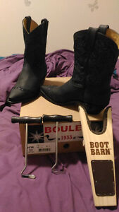 Brand new Boulet cowboy boots with extras!