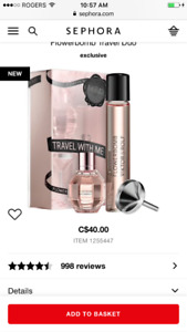 New Viktor Rolf Flowerbomb travel perfume set