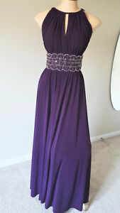 Purple Halter Style Dress from David's Bridal