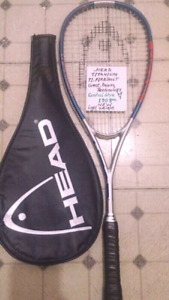 Top Brand Name Squash Racquets. Light Wt. New Condition