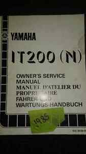 SHOP MANUEL YAMAHA IT200 (N) 10$