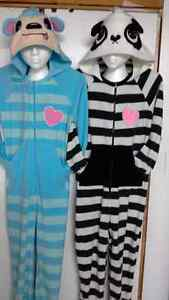 8 adult onesie pajamas/costumes. size X-small to large