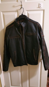 Cowhide Leather Moto Jacket med. worn once mint!