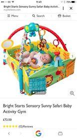 Bright starts sensory safari baby gym