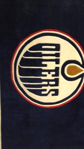 Edmonton Oilers carpet. Connor Mcdavid