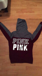 Pink (Victoria Secret) Zip up sweater (Burgundy)