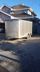 7 X 14 enclosed cargo trailer *WITH LOTS EXTRA TIE DOWN POINTS*