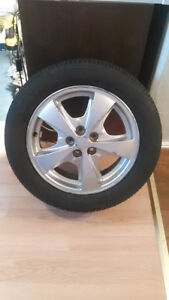 Tires and Aluminum rims for bone stock or street 5x100 London Ontario image 5