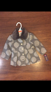 12 month coat new with tags