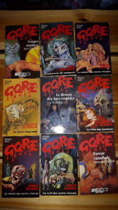 Collection de romans d'horreur Gore