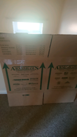 Cardboard moving house boxes