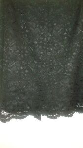 """Gorgeous """"Nycard"""" Lacy above knee black skirt Size 12"""
