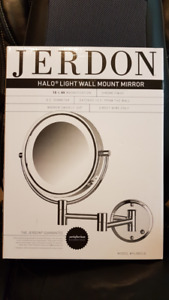 Jerdon Halo Wall Mount Mirror with Light