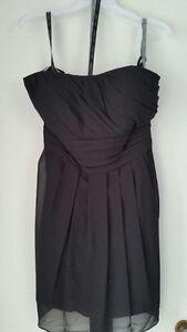 Black chiffon strapless dress