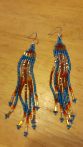 Extra Long Hand-crafted Aboriginal Earrings