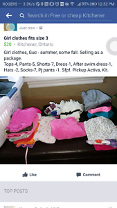 Girl clothes- Fits size 3 - Sold as a bundle, about  $1 /item.