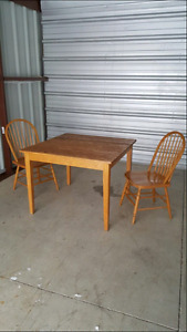 Wood dinnig/ kitchen Set for 2