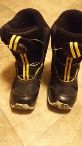 Snowboard boots, size 12 (kids)