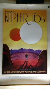 NASA travel posters for exoplanets x4