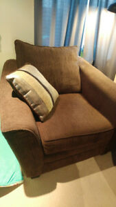HUGE Arm Chair FOR SALE  Allen Chenille Chair - the BRICK $250