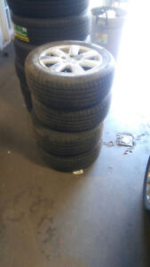 215/55r16 michelin with volks passat rims tires like new 5x112