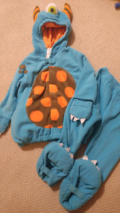 Size 4 Blue One-Eyed Monster Costume