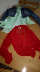 $20 les trois Veste chemise 2 chemise xsmall