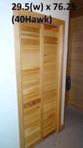 Door - 30(w) x 78 - Natural Birch, Bi-fold Louver Closet Door