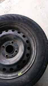 2008 185 65 R15 Nissan Versa tires and rims x 4 Peterborough Peterborough Area image 1