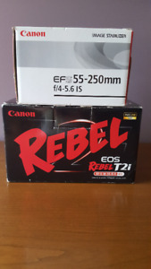 Canon EOS Rebel T2i Camera With Two Lenses