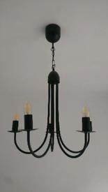 5 Arm LED Ceiling Lamp - Modern Chandelier