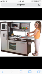 Looking to trade play kitchen for a pink wood one