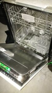 Bosch stainless steel dishwasher - antique white cabinet front