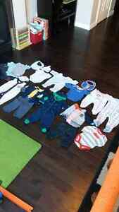 Boys 0-3 month clothing lot $10