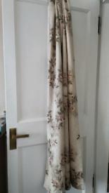 Window Curtains flower design 180 cm fall X 160 width